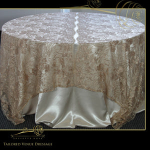 Sequin Embroidered Lace Table Covers