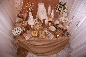 Candy Bridal Tables with Dolls