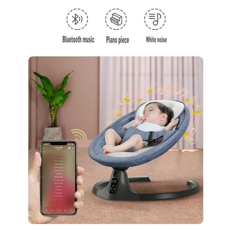 Baby Swing Multifunctional Aluminum Alloy Baby Rocking Chair Electric Baby Cradle With Remote Control Cradle Rocking Chair - PuraGlow