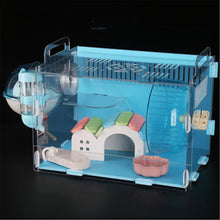 Load image into Gallery viewer, Blue Double Hamster Cage Large Size - PuraGlow