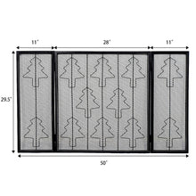 Load image into Gallery viewer, Costway Christmas Tree Folding 3 Panel Steel Fireplace Screen - PuraGlow