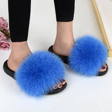 Load image into Gallery viewer, FabFlurry - Ladies Luxury Fluffy Slides - PuraGlow