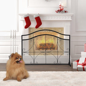 High Security Single Panel Fireplace Screen - PuraGlow