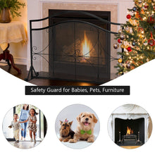 Load image into Gallery viewer, High Security Single Panel Fireplace Screen - PuraGlow