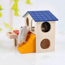 Load image into Gallery viewer, Natural Wooden Hamster Cage - PuraGlow
