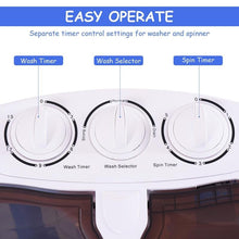 Load image into Gallery viewer, Portable Compact Twin Tub Washing Machine /Condos/ Motor Homes /RV's Camping - PuraGlow