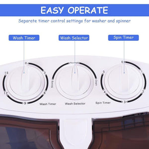 Portable Compact Twin Tub Washing Machine /Condos/ Motor Homes /RV's Camping - PuraGlow