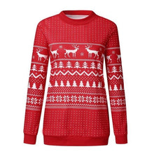 Load image into Gallery viewer, Reindeer Snowflake Ugly Christmas Sweater