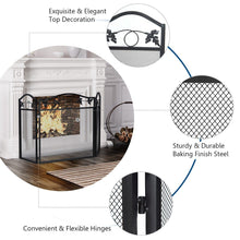 Load image into Gallery viewer, Rustproof Foldable Fireplace Screen - PuraGlow