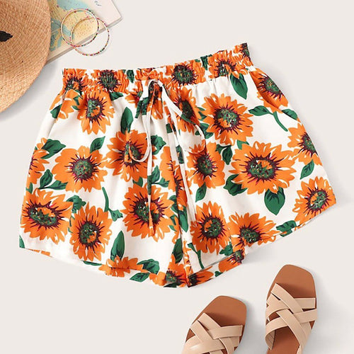 Sunflower Mami Shorts - PuraGlow