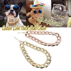ThugPet - Thick Cuban Dog Gold Chain Pet Collar - PuraGlow