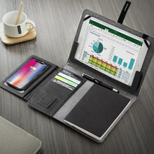 Load image into Gallery viewer, TravelPad - Multifunctional Padfolio With Wireless Power Bank - PuraGlow