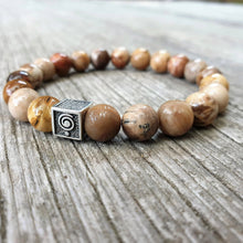 Load image into Gallery viewer, Petrified Wood Bracelet for Men - The Light | Lina Snara