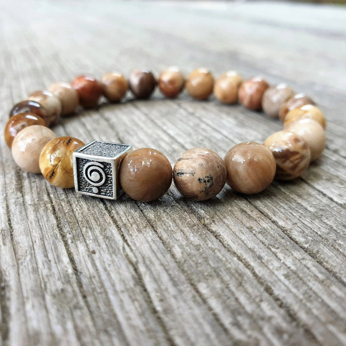 Petrified Wood Bracelet for Men - The Light | Lina Snara