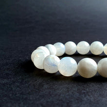 "Load image into Gallery viewer, Moonstone AA+ Silver Bracelet for Women ""Intuition"" - 8 mm"