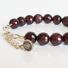 "Load image into Gallery viewer, Red Garnet Silver Bracelet for Women ""Vitality"""