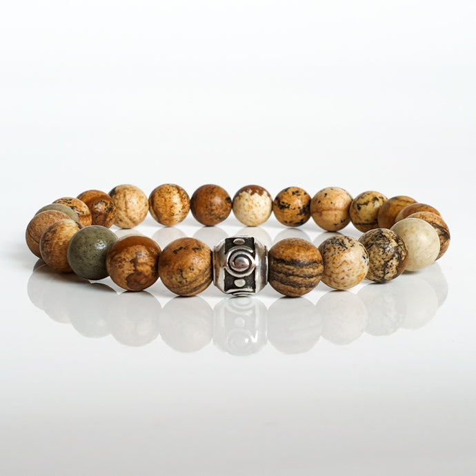 Picture Jasper Silver Bracelet for Women