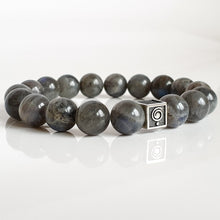 "Load image into Gallery viewer, Labradorite Bracelet for Women ""The Guardian"" - 10 mm"
