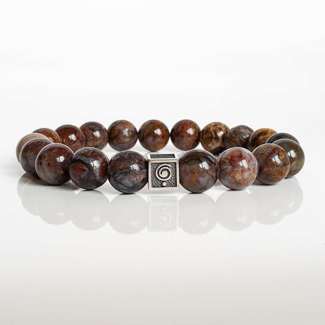 Pietersite Silver Bracelet for Men