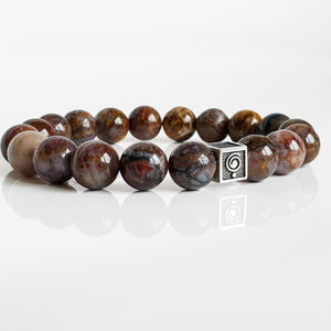 "Pietersite Silver Bracelet for Men ""Tempest Stone"""