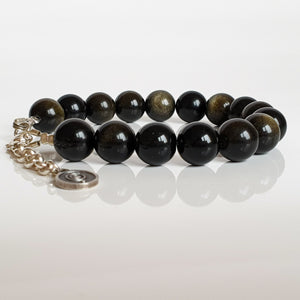 "Golden Obsidian Bracelet for Women ""Inner Strength"""