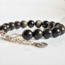 "Load image into Gallery viewer, Golden Obsidian Bracelet for Women ""Inner Strength"""