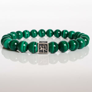 "Malachite Bracelet for Men - Vytis - ""Abundance"""