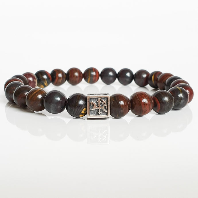 Tiger's Iron Silver Bracelet for Men - Vytis -