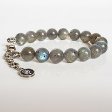 "Load image into Gallery viewer, Labradorite Bracelet for Women ""The Guardian"" - 9 mm"