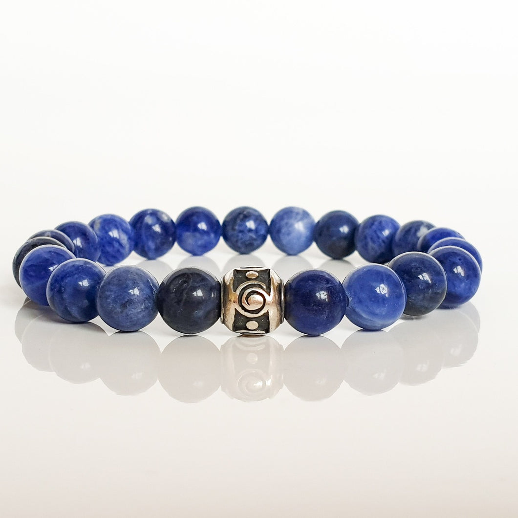 Sodalite Silver Bracelet for Women