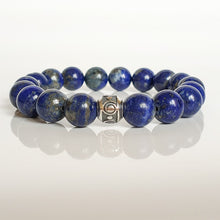 "Load image into Gallery viewer, Lazurite Silver Bracelet for Women ""Wisdom"""