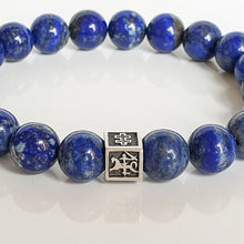 "Load image into Gallery viewer, Lazurite Bracelet for Men - Vytis - ""Wisdom"""
