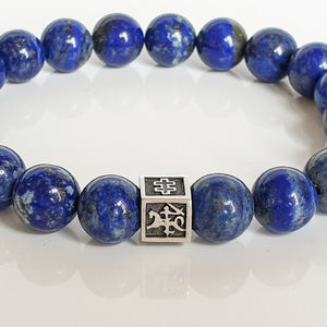 "Lazurite Bracelet for Men - Vytis - ""Wisdom"""