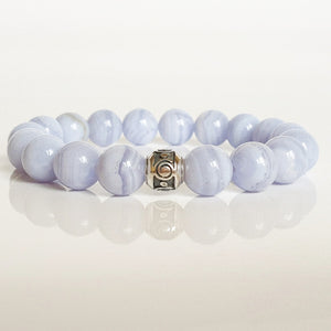 "Chalcedony Silver Bracelet for Women ""The Calm"""