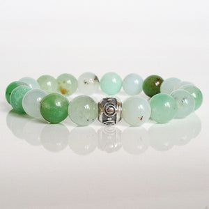 "Chrysoprase Silver Bracelet for Women ""Healer"""