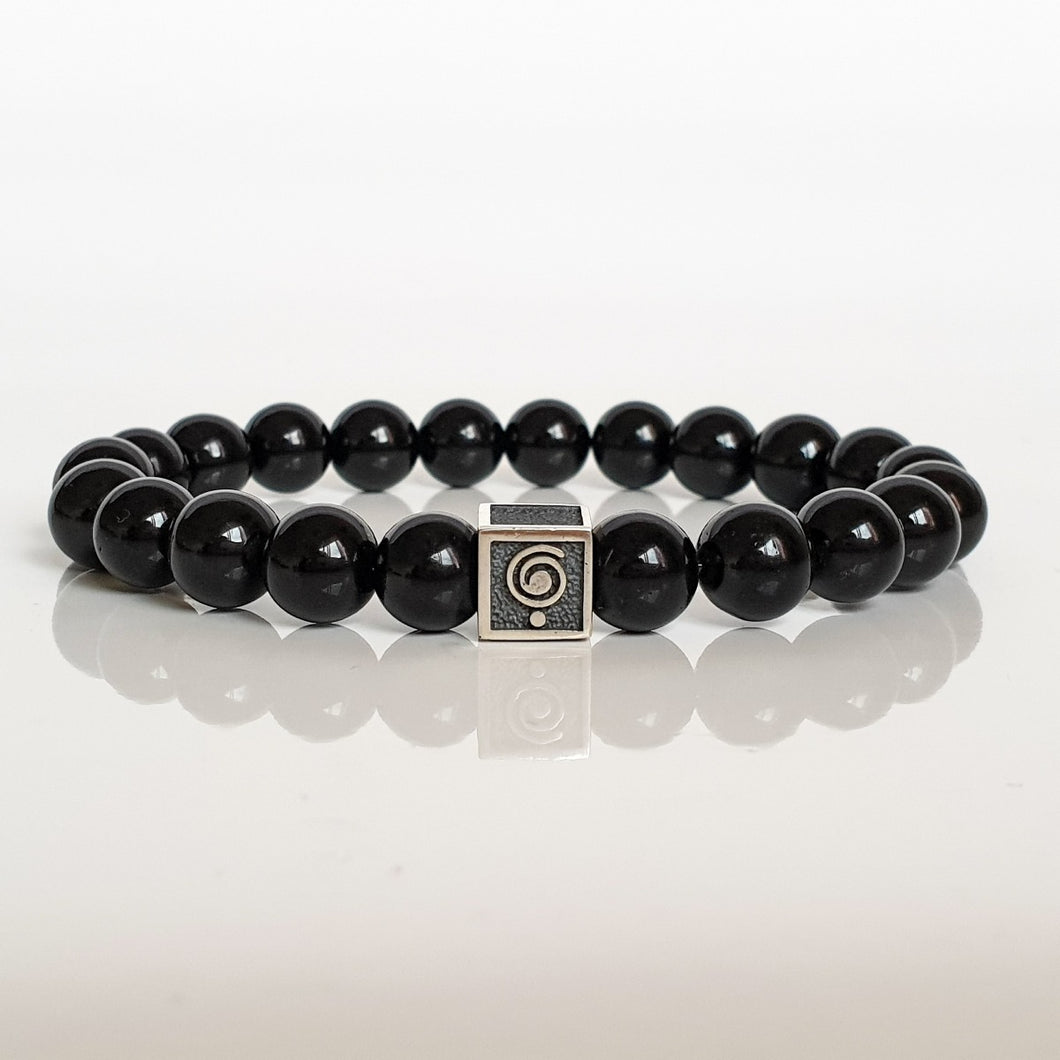Black Tourmaline Bracelet for Men