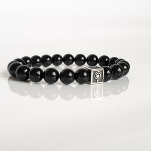 "Black Tourmaline Bracelet for Men ""Harmony"""