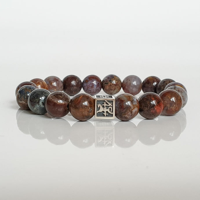 Pietersite Silver Bracelet for Men - Vytis -