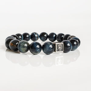 "Hawk's Eye Silver Bracelet for Men ""Confidence"""