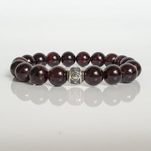 "Load image into Gallery viewer, Red Garnet Bracelet for Women ""Vitality"" - 10mm"
