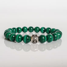 "Load image into Gallery viewer, Malachite A+ Silver Bracelet for Women ""Abundance"""
