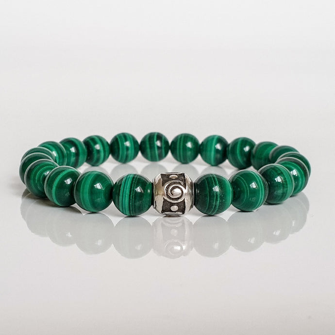 Malachite A+ Silver Bracelet for Women