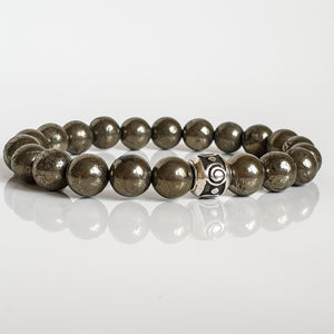 "Pyrite A+ Silver Bracelet for Women ""Positive"""