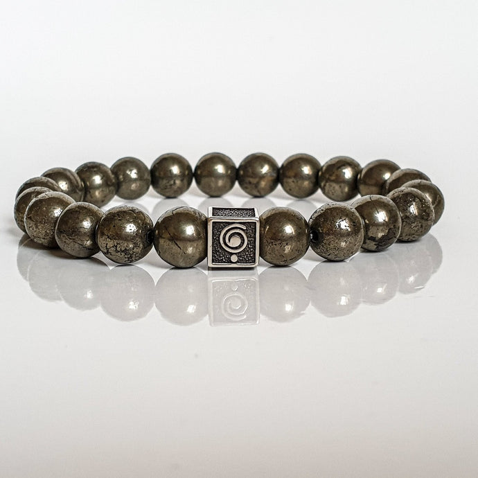 Pyrite A+ Silver Bracelet for Men