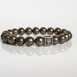 "Pyrite A+ Silver Bracelet for Men ""Positive"""