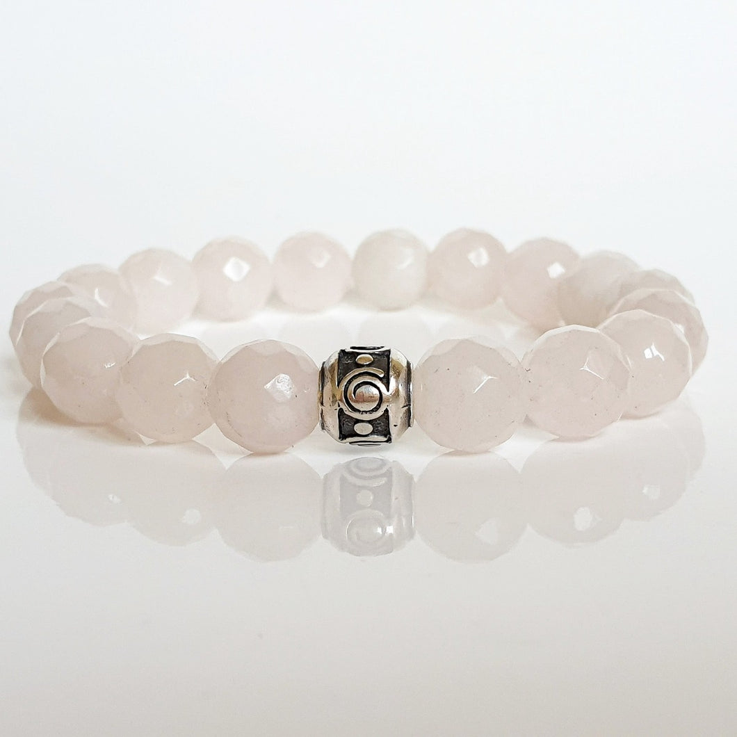 Pink Quartz Silver Bracelet for Women
