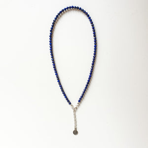 "Lazurite Silver Necklace ""Wisdom"" - Petit Secret"