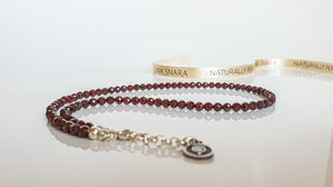 "Red Garnet Silver Necklace ""Vitality"" - Petit Secret"