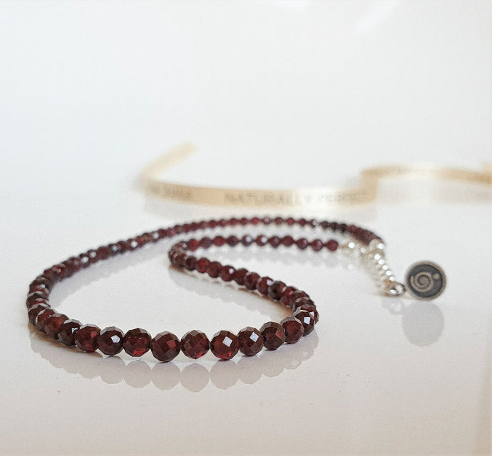 Red Garnet Silver Necklace