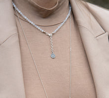 "Load image into Gallery viewer, Set of Moonstone Silver Necklace and Bracelet ""Intuition"" - Petit Secret"